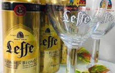 Bia lon Leffe nâu vàng nhập khẩu 500ml