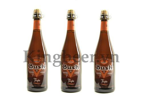 Bia Bỉ Bush Amber Triple chai 750ml