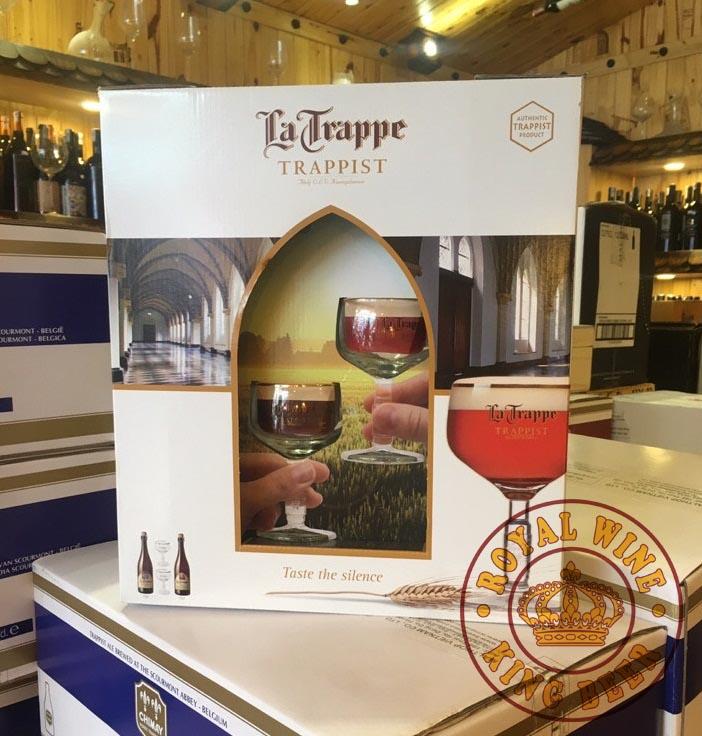 Quà tặng Bia La Trappe cao cấp kem 2 ly mạ vàng 18k
