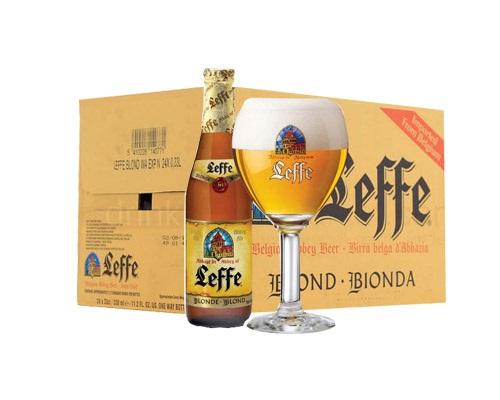 Bia Leffe Blonde Chai 330ml thung 24 chai