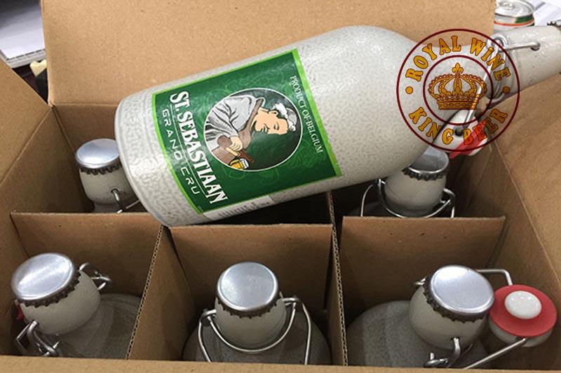Thùng bia Sứ Bỉ St.sebastiaan grand cru 6 chai.