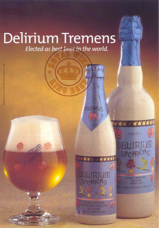 Kết quả hình ảnh cho Bia Delirium Tremens Bỉ 750